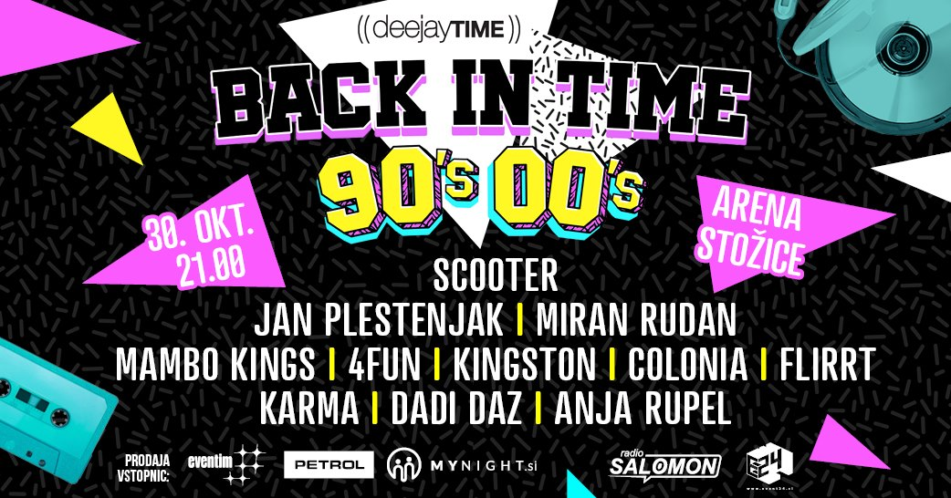 30. 10. 2019|STOŽICE, DJT BAcKInTiME|SCOOTER & guests